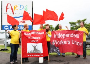 IWU protest in Newtownards