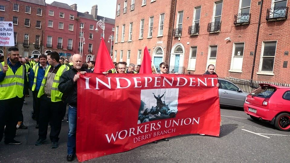 Derry IWU support Bus drivers strike in Dublin on Mayday