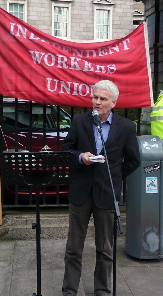 Tommy McKearney speaking at IWU Mayday event in Dublin