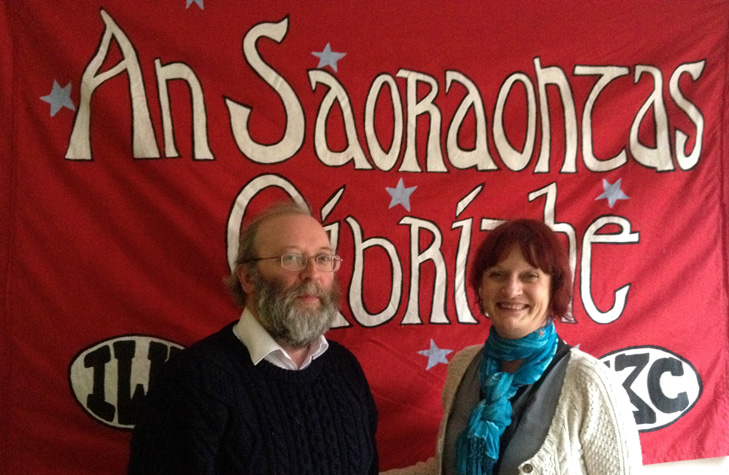L-R: Noel Murphy & Patricia Campbell at the annual conference of 2014