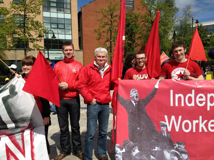 IWU on Mayday parade in Belfast